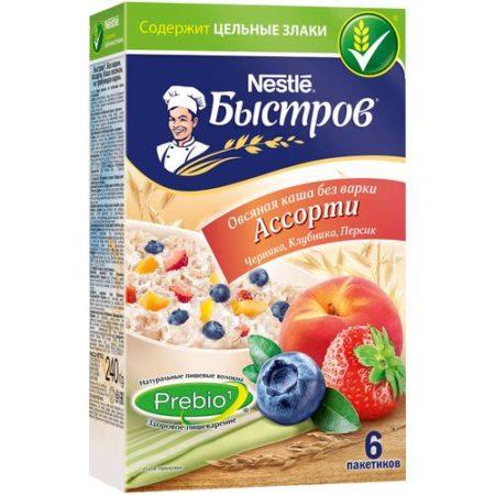 Каша Быстров овсяная ассорти 6 пакетиков