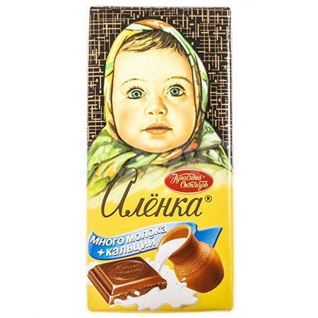 Шоколад Алёнка Много молока + кальций