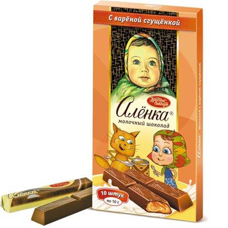 Шоколад Алёнка варенная сгущенка стики