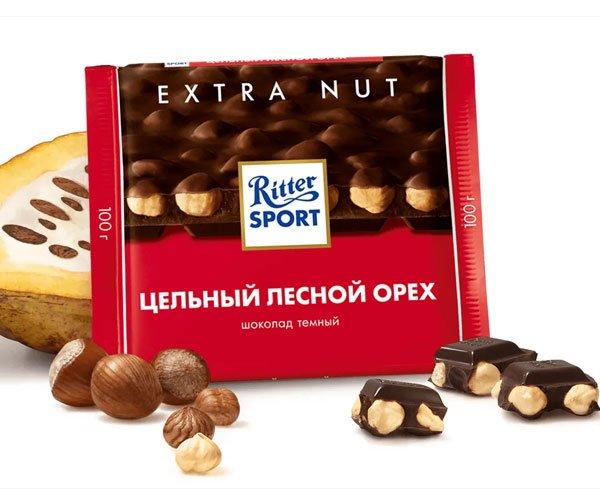 Шоколад-Риттер-Спорт-Цельный-лесной-орех-тёмный