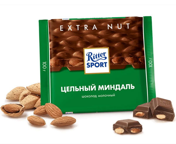Шоколад-Риттер-Спорт-Цельный-миндаль-молочный