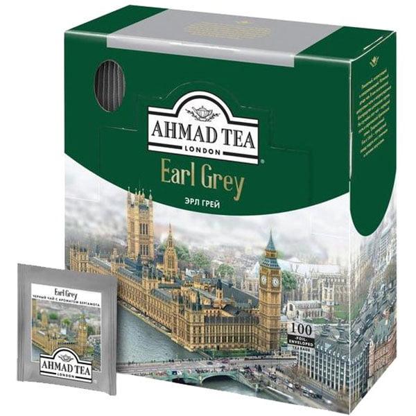Чай Ахмад Эрл Грей 100 пакетиков