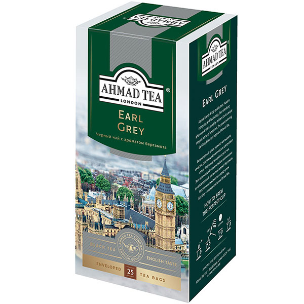 Чай Ахмад Эрл Грей 25 пакетиков
