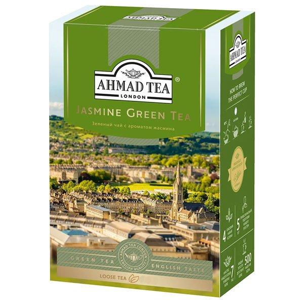 Чай-Ахмад-Зеленый-с-Жасмином-листовой
