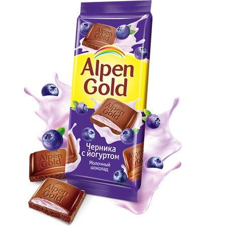 Шоколад Альпен Голд Черника йогурт