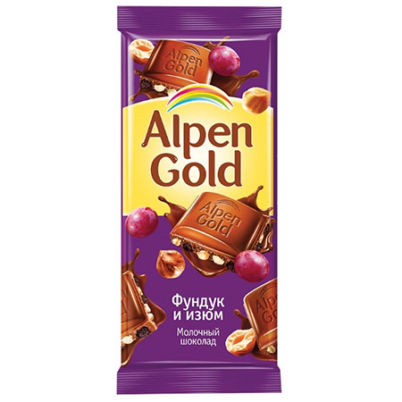 Шоколад-Альпен-Голд-Фундук-изюм