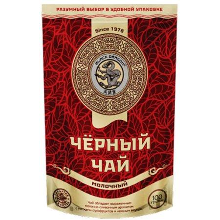 Чай Черный дракон Черный молочный, 100г. м/у