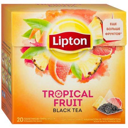 Чай Липтон Тропический Фрукт 20 пирамидок