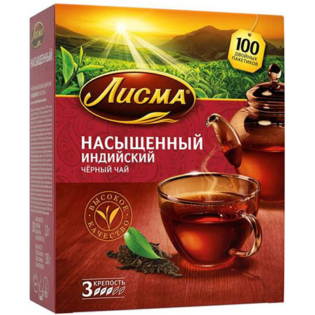 Чай-Лисма-Насыщенный-100-пакетиков