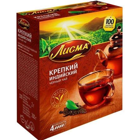 Чай-Лисма-крепкий100-пакетиков
