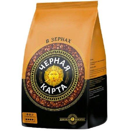 кофе-чёрная-карта-зерно