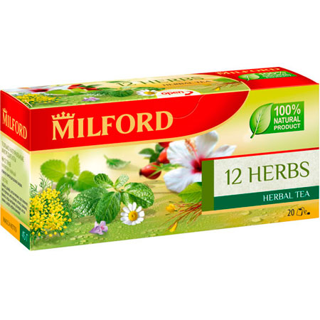 Чайный напиток Милфорд (Milford) 12 Трав 1,5г х 20пак