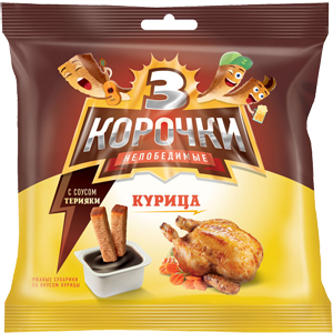Сухарики «3 Корочки» курица/соус терияки