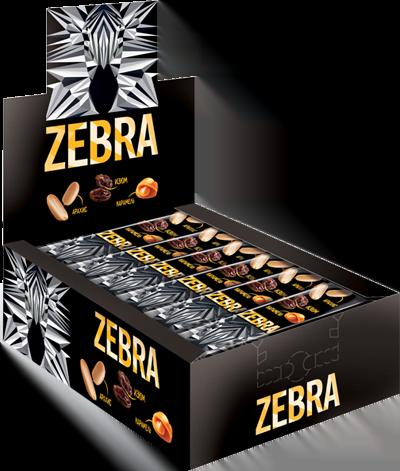 Шоколадный батончик Зебра