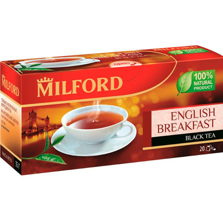 Чай чёрный Милфорд (Milford) Английский завтрак 1,75г х 20пак