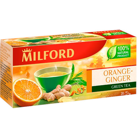 Чай зелёный Милфорд (Milford) Апельсин-Имбирь 1,75г х 20пак