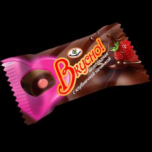 """Конфеты Шоколадные """"Вкусно"""" фруктовая начинка (3 наименования)"""