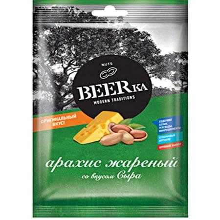 Арахис BEERka жареный со вкусом сыра, 90 гр.