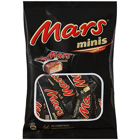 Шоколадные конфеты Марс (Mars) minis, 182 гр.