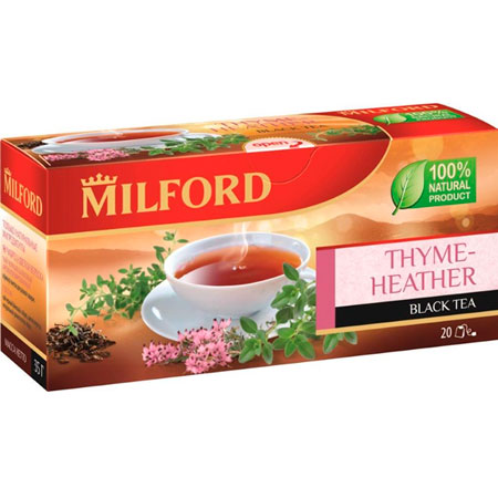 Чай чёрный Милфорд (Milford) Чабрец-цветки Вереска 1,75г х 20пак