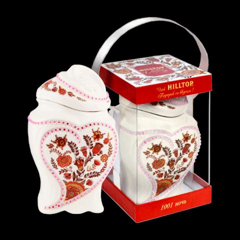 Чай Хилтоп Керамическая чайница +Чай 1001 ночь