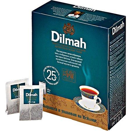 Чай Дилма (Dilmah) черный цейлонский 100 пак. с/я