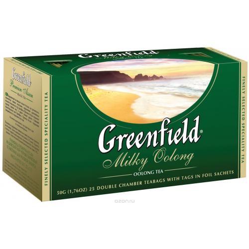 Чай Гринфилд Молочный Улун зеленый 25 пак.
