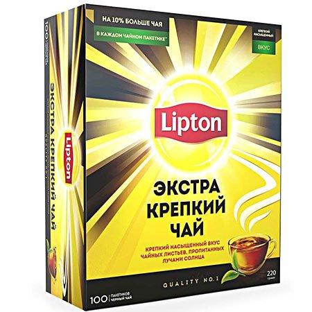 Чай Липтон Экстра Крепкий 100 пакетиков
