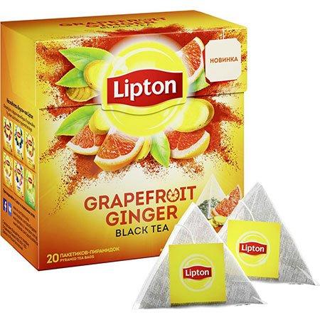 Чай Липтон Grapefruit Ginger черный Грейпфрут/Имбирь