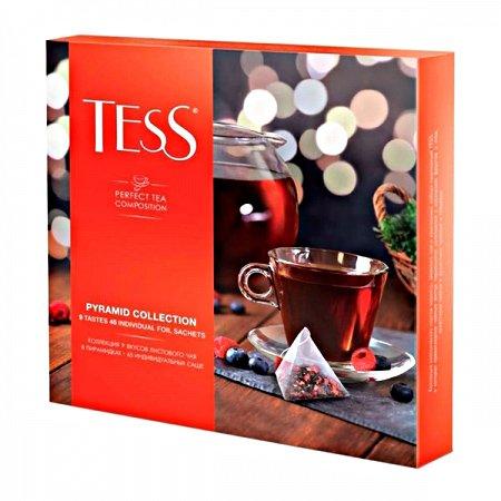 Чай Тесс (Tess) Ассорти 45 пирамидок с ярлычками
