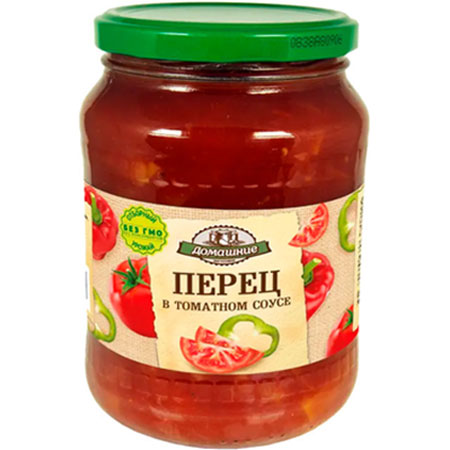 «Домашние заготовки» Перец в томатном соусе, 680 г