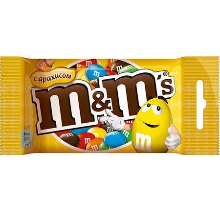 Драже М&Мs (Эм-энд-Эмс) арахис 45гр.