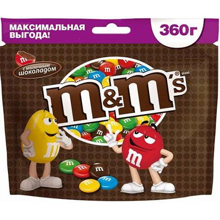 Драже М&Мs (Эм-энд-Эмс) шоколад 360гр.
