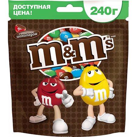 Драже М&Мs (Эм-энд-Эмс) шоколад 240гр.