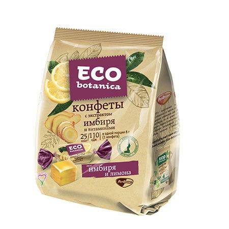 Конфеты Eco-botanica с экстрактом имбиря и витаминами, 200 гр.