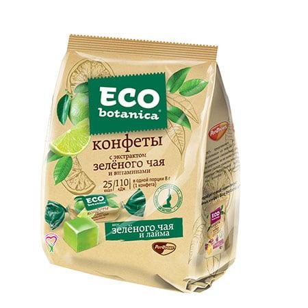 Конфеты Eco-botanica с экстрактом зелёного чая и витаминами, 200 гр.