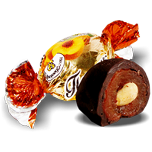 Конфеты Вкусладости Персик с миндалем, 1кг