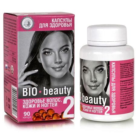 Капсулы здоровья №02 BIO beauty здоровье волос, кожи и ногтей, 90 капсул