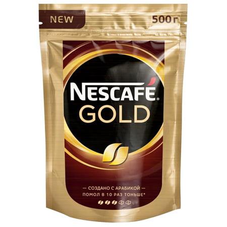 Кофе Нескафе Голд 500г. c добавлением молотого