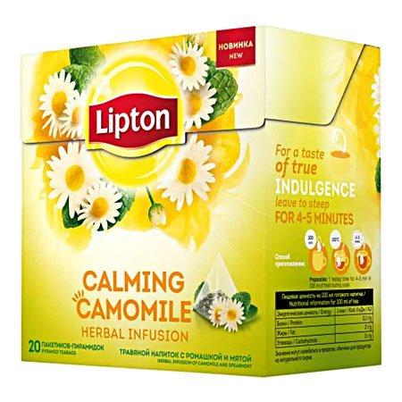 Чай Липтон Calming Camomile травяной с ромашкой и мятой