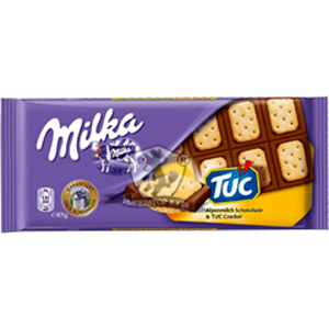 Шоколад Милка Сэндвич с крекером TUC, 87гр