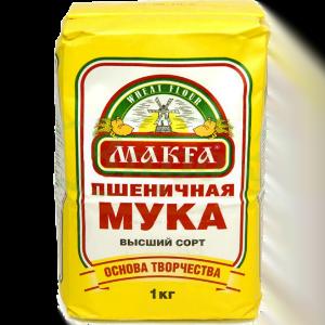 Мука Макфа пшеничная высший сорт 1кг.
