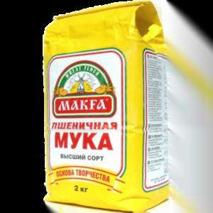 Мука Макфа пшеничная высший сорт 2кг.