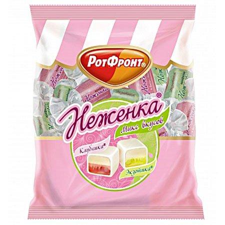 Конфеты Неженка вкус клубника 245гр