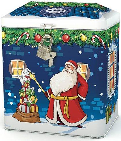 Новогодний подарок «Новогодний домик копилка», 500 г