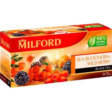 Чай чёрный Милфорд (Milford) Облепиха-Лесные ягоды 1,5г х 20пак