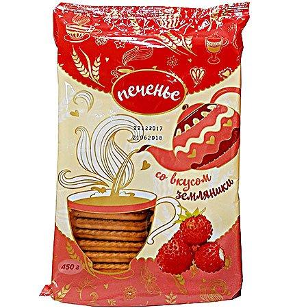 Печенье Зея со вкусом земляники 450г. ШФН