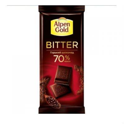 Шоколад Альпен Голд Bitter горький шоколад, 70% какао, 85 гр.