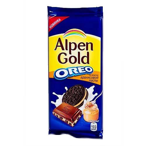 Шоколад Альпен Голд с Оreo Вкус арахисовой пасты