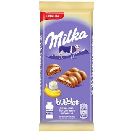 Шоколад Милка Бабл банан йогурт 97г.